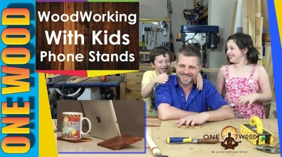 Woodworking Projects for Kids: Make a Phone or Tablet Stand