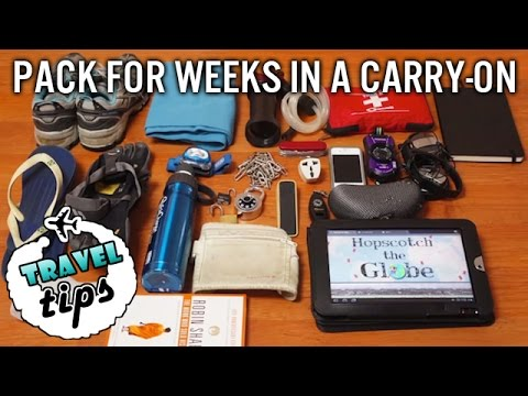 TRAVEL TIPS: Pack for Weeks in a Carry On