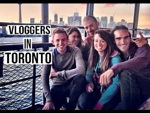 Vloggers in Toronto with