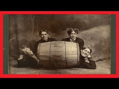24 FUNNY VINTAGE PHOTOS OF PEOPLE POSING WITH DRUMS - Barrels of Laugh