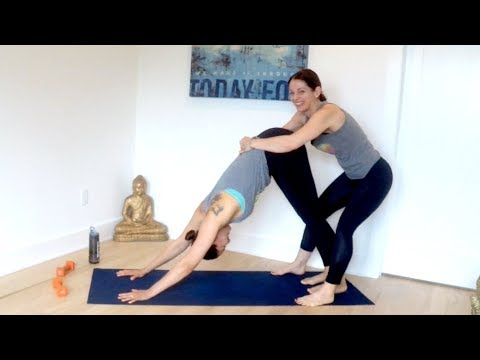 20 Minute Yoga Sculpt Workout with Weights + Meditation for Anxiety - BEXLIFE
