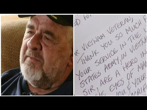 DISTRAUGHT VETERAN BROUGHT TO TEARS OVER ANONYMOUS NOTE FOUND ON TRUCK