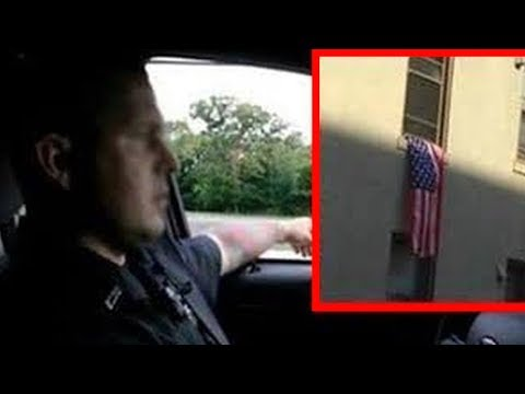 Officers Photograph Student's American Flag Viewers Shocked When They See What Else In Photo