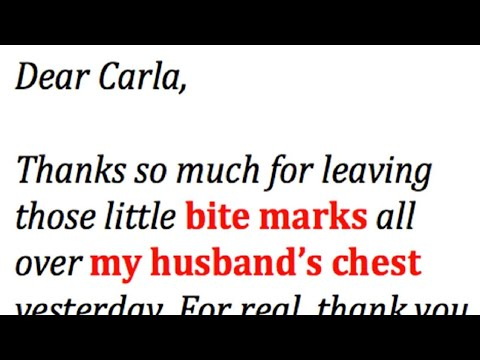 Angry Wife Writes The Best Letter Ever To Husband's Mistress. This Is Gold.