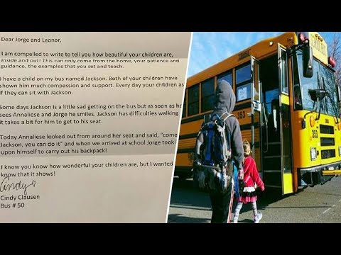 Bus Driver Sends Note With Child To Bring To Mother, When She Begin To Read,Tears Start Pouring