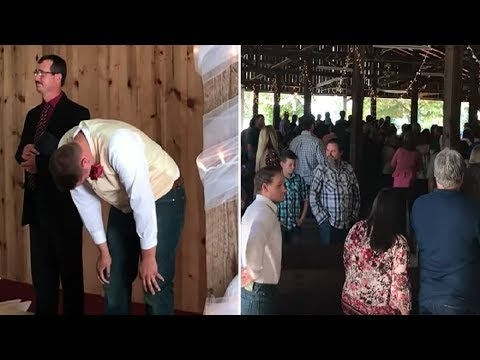 Groom waits for the love of his life – hears a sound at back of church and breaks down