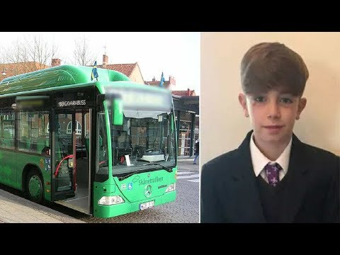 Tom hears young boy crying from the back of bus instantly see what's wrong and yells