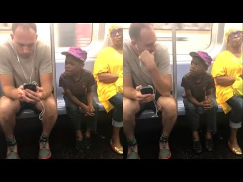 Man Notices Little Boy Eying His Phone Making 1 Swift Move He Doesn't Know Stranger Recording