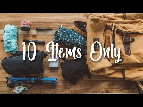 10 item Packing Challenge | How to Pack Better