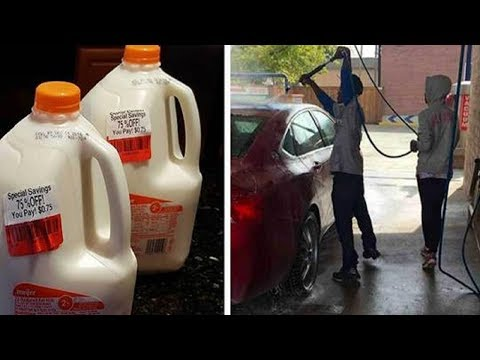 Poor Man Asks Woman To Buy Him Milk. He Has Tears In His Eyes When She Doesn't Stop There