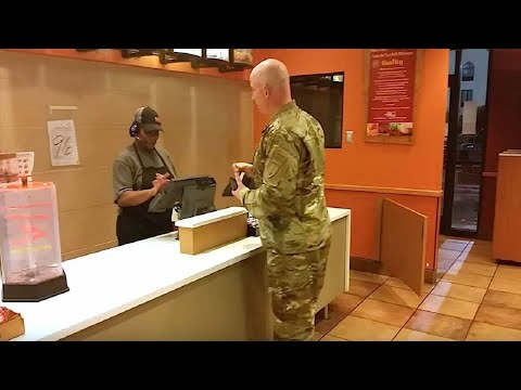 This Soldier Goes to Order Taco Bell and Stops Cold When He Hears Two Boys Behind Him