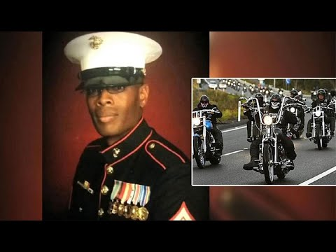 Bikers Transport Marine's Remains Across the Country