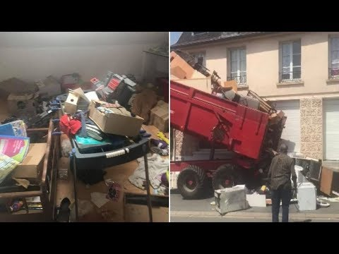 Landlord Gathers Mess Left Behind by the Former Tenants and Dumps It All in Front of Their New Home