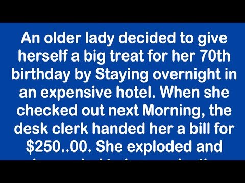 Hotel Manager Tries To Overcharge An Elderly Woman And Her Response Is Priceless