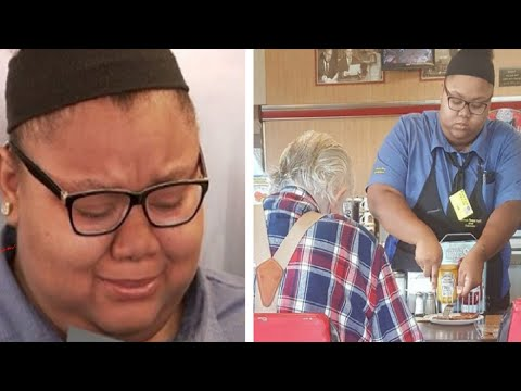 Struggling Waitress Shows Elderly Customer Kindness, Then She Receives Unexpected Surprise
